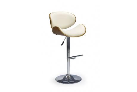 Barová židle H44 ořech / krémová