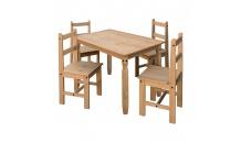 Jídelní stůl CORONA 2 16116+ 4 židle 1627 masiv borovice