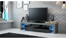 TV stolek SOLO RTV šedý mat/černý lesk