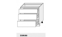 Dolní skřňka PLATINIUM D3M/80 grey