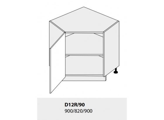 Dolní skříňka PLATINIUM D12R/90 grey