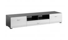 TV stolek CLIF RTV grafit mat/bílá mat