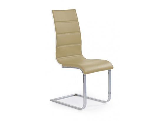 Jídelní židle K 104 béžová/bílá