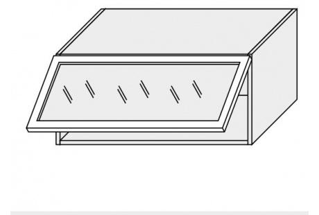 Horní skříňka kuchyně Quantum W4BS 80 ALU/jersey