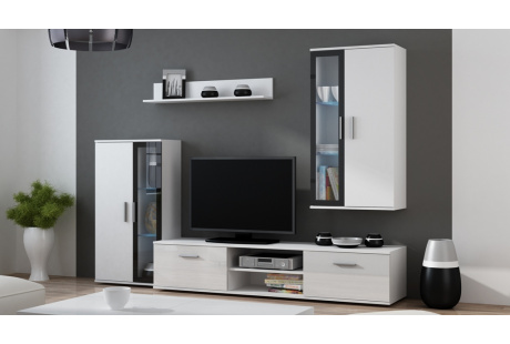 Obývací stěna DORA bílá