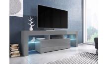 TV stolek TORO 138 RTV šedý mat/šedý lesk/šedý lesk