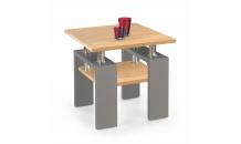 Konferenční stolek DIANA H MDF čtverec zlatý dub/grafit