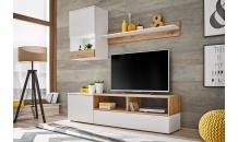 Obývací stěna MINI bílý mat/dub artisan