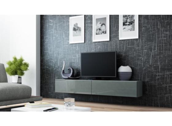 TV stolek VIGO RTV 180 šedý mat/šedý lesk