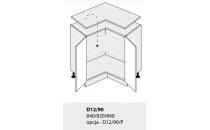 Dolní skříňka PLATINIUM D12 90 rohová grey