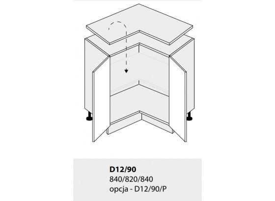 Dolní skříňka PLATINIUM D12/90 grey