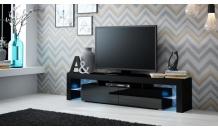 TV stolek SOLO RTV černý mat/černý lesk