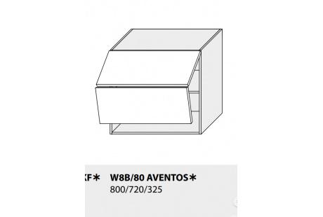 Horní skříňka kuchyně TITANIUM W8B 80 AV/grey