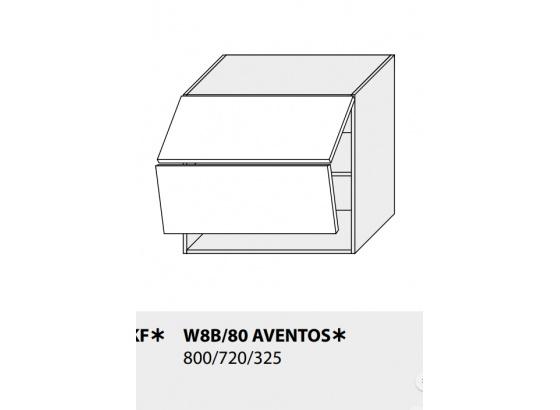 Horní skříňka kuchyně TITANIUM W8B 80 AV grey