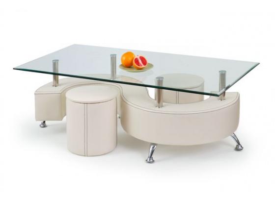 Konferenční stolek NINA 3H bílý