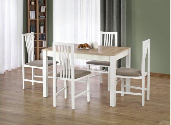 Jídelní stůl KSAWERY dub sonoma/bílý