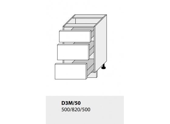 Dolní skříňka kuchyně TITANIUM D3M 50 lava
