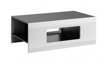 Konferenční stolek CLIF grafit mat/bílá mat