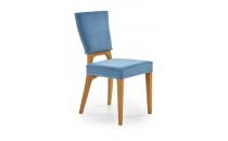 Jídelní židle WENANTY dub medový-mořská modrá