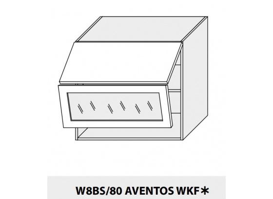 Horní skříňka kuchyně QUANTUM W8BS 80 AV WKF/grey