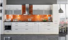 Kuchyň PLATINUM 390 cm bílý lesk