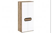 Šatní skříň RODAN 2D dub craft zlatý/bílá