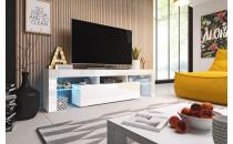 TV stolek TORO 158 RTV bílý mat/bílý lesk/bílý lesk