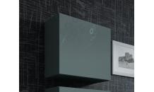 Vitrína VIGO čtverec šedý mat/šedý lesk