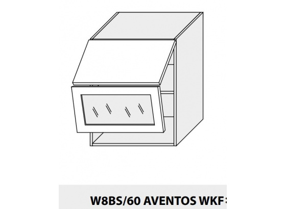 Horní skříňka kuchyně QUANTUM W8BS 60 AV WKF/grey