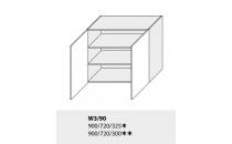 Horní skříňka kuchyně TITANIUM W3 90/bílá