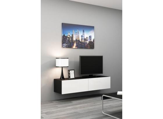 TV stolek VIGO RTV 140 černý mat/bílý lesk