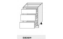 Dolní skříňka PLATINIUM D3E/60 grey
