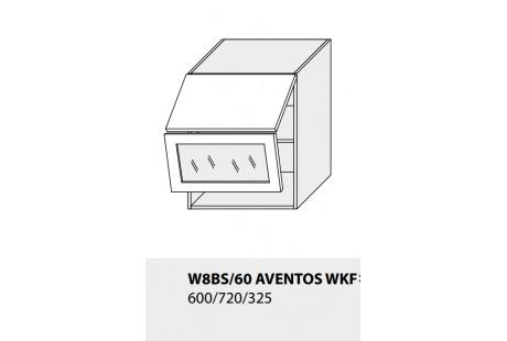 Horní skříňka kuchyně TITANIUM W8BS 60 AV WKF/grey