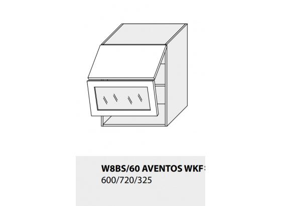 Horní skříňka kuchyně TITANIUM W8BS 60 AV WKF grey