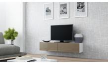 TV stolek VIGO RTV 140 bílý mat/latte lesk