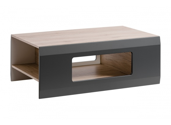 Konferenční stolek CLIF dub san remo/grafit mat