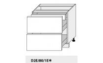 Dolní skříňka kuchyně Quantum D2E 80 1E/grey