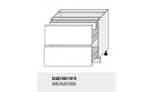 Dolní skříňka PLATINIUM D2E/90/1E grey