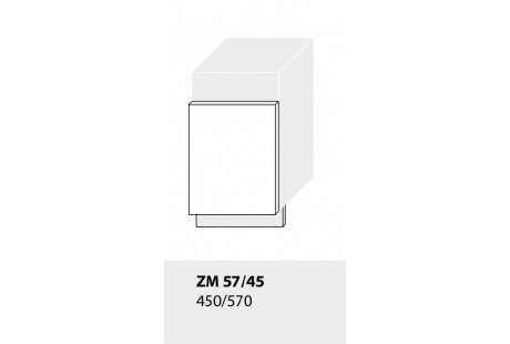 Dvířka pro vestavbu myčky kuchyně TITANIUM ZM57/45 (viditelná vestavba 57x45 cm)/jersey