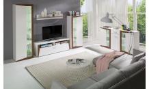 Obývací stěna PIANO bílá/ořech