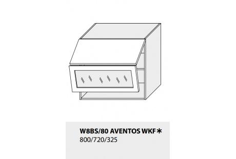 Horní skříňka kuchyně TITANIUM W8BS 80 AV WKF/grey