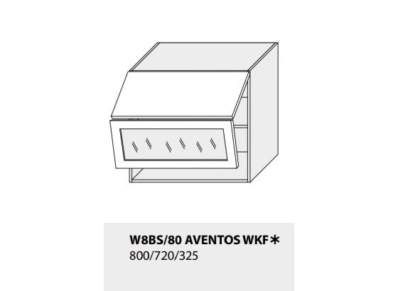 Horní skříňka kuchyně TITANIUM W8BS 80 AV WKF grey