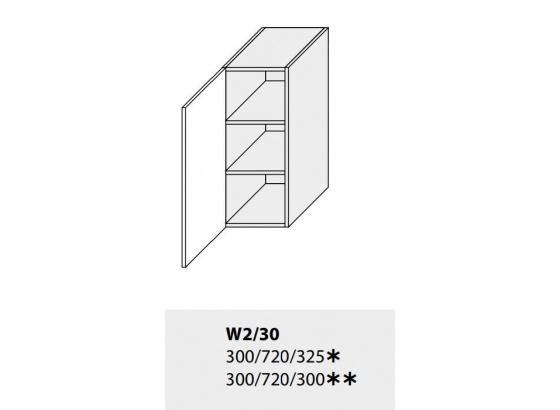 Horní skříňka kuchyně TITANIUM W2 30 jersey