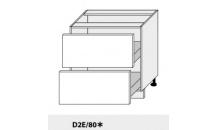 Dolní skříňka PLATINIUM D2E/80 dub artisan