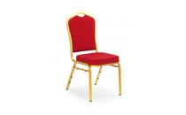 Jídelní židle K66 bordeaux-zlatá