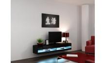 TV stolek VIGO NEW RTV 180 černý mat/černý lesk