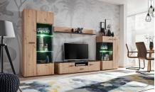 Obývací stěna SOLIDO dub artisan/černý mat