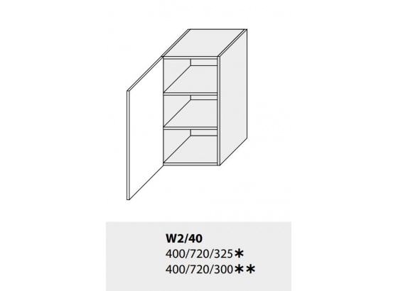Horní skříňka kuchyně TITANIUM W2 40 bílá