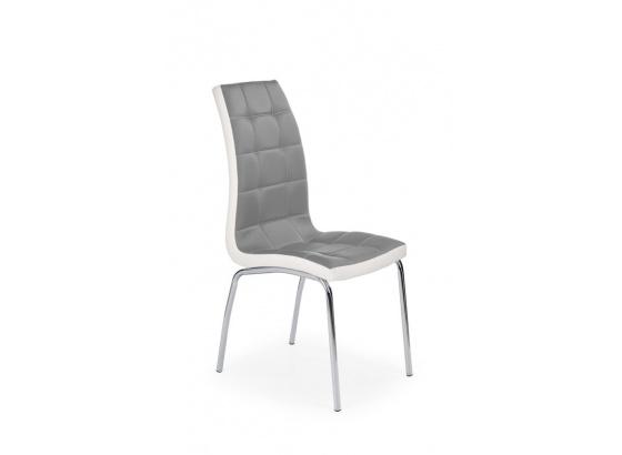 Jídelní židle K 186 šedá/bílá