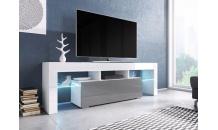 TV stolek TORO 138 RTV bílý mat/šedý lesk/bílý lesk